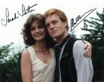 Sarah Sutton and Mark Strickson  - Signed 10 x 8. This is an original autograph and not a copy 10243